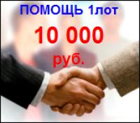 Безвозмездная финансовая помощь проекту 1лот=10 000 руб.